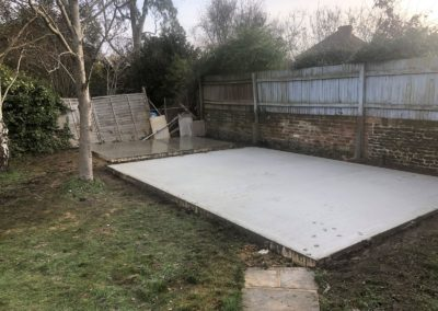 2x concrete bases in Tongham