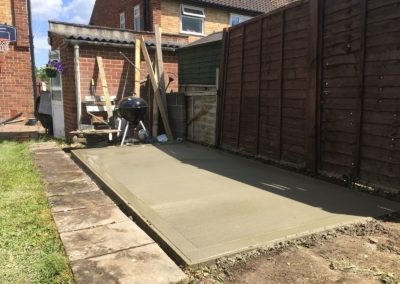 Concrete shed Base in Leatherhead