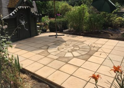 Marshal Circle with squaring off kit and paving in Whitley